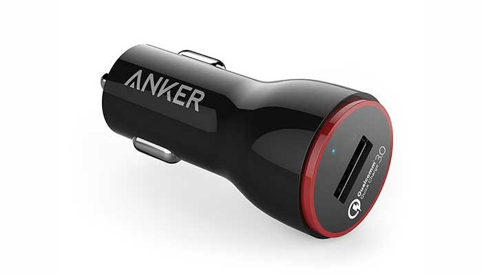 Автомобильное зарядное устройство Anker PowerDrive+ 1 Port Car Charger with Quick Charge 3.0