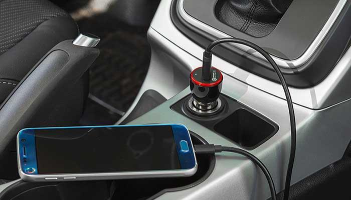 Быстрая и безопасная автомобильная зарядка Anker PowerDrive+ 1 Port для телефона