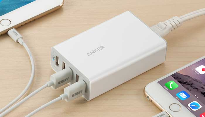 Anker PowerPort 5 40W 8A 5-Port USB Charger White (A2124L21)