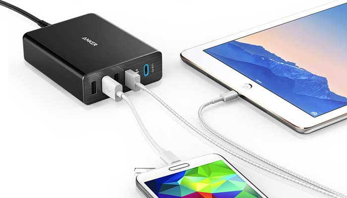 PowerPort+ 5 USB-C Wall Charger with PD  29W for MacBook, iPad, iPhone