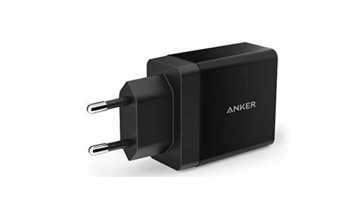 Anker 24W 4.8A PowerPort 2 Ports Wall Charger (A2021311)