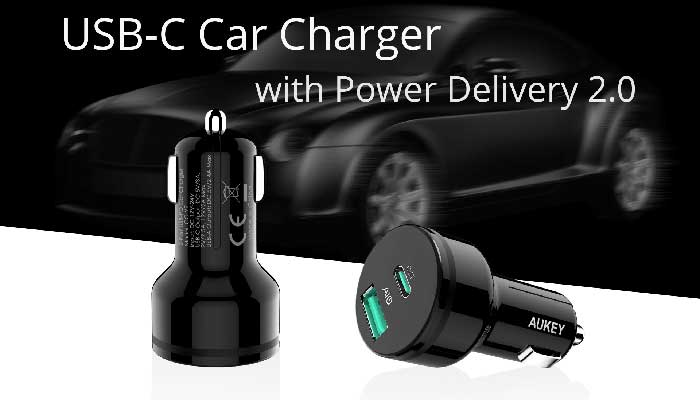 Aukey USB-C Car Charger