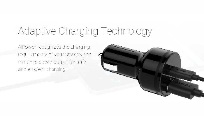 Aukey USB-C Car Charger with Power Delivery 2.0