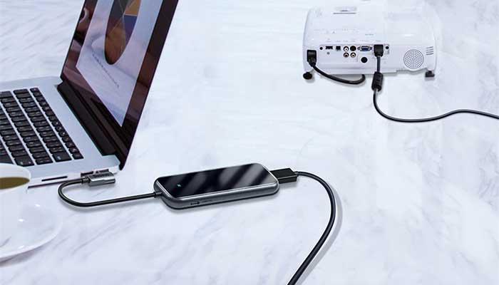Baseus 7in1 Hub USB-C to 3x USB 3.0 + HDMI + USB-C PD + SD/microSD adapter