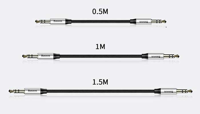 Baseus Yiven M30 аудио кабель в 3 вариантах по длине