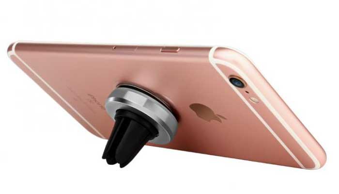 Стильный магнитный крепеж с функцией настольного держателя для телефона. магазин автомобильных креплений DERJAK.RU