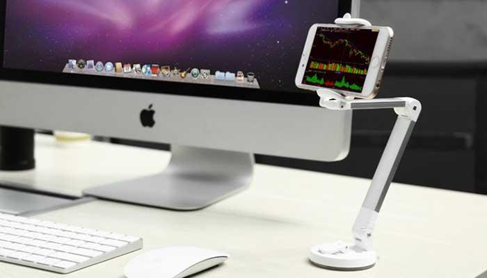 Стильный держатель на стол Baseus для смартфонов до 5.5 дюймов
