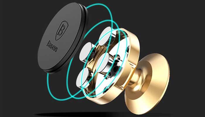 Мощный магнитный держатель Baseus на торпедо