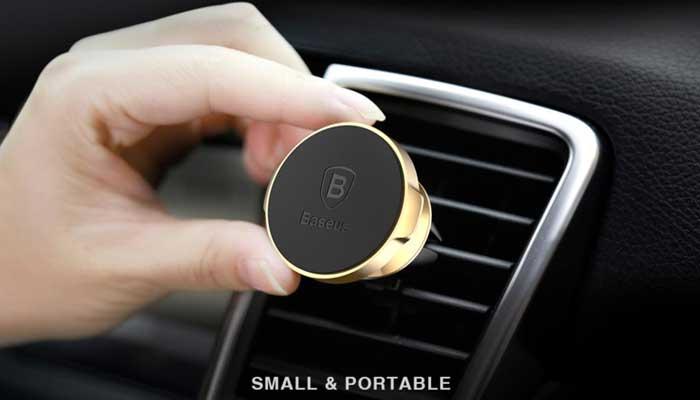 Компактный держатель телефона в дефлектор Baseus Magnet Suction Bracket