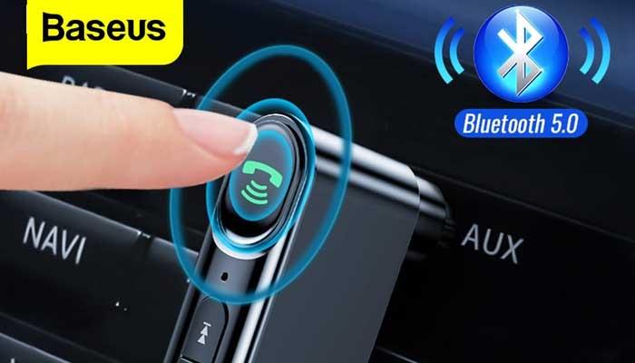 Baseus Type 7 AUX Car Wireless Receive, BT5.0 (WXQY-01) black