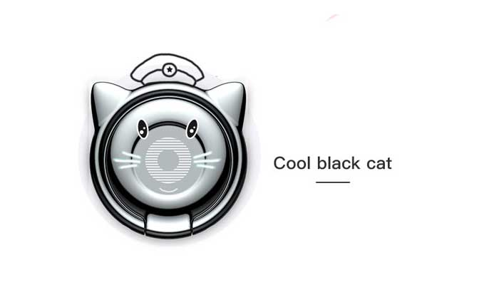 Baseus Cat Ear Ring Bracket (SUMA-01) Black