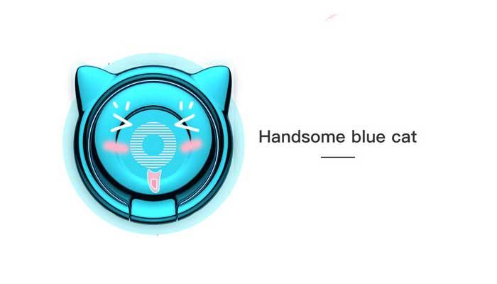 Baseus Cat Ear Ring Bracket (SUMA-03) Blue