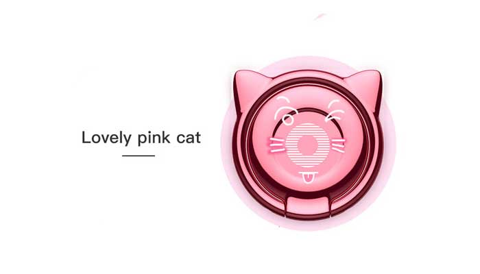 Baseus Cat Ear Ring Bracket (SUMA-04) Pink