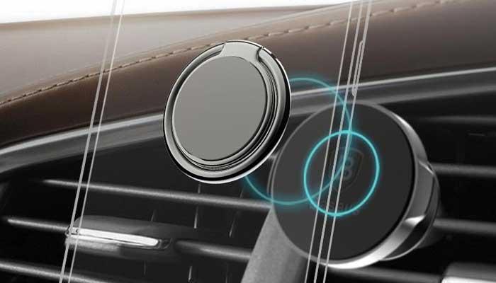 Кольцо-держатель на руку и магнитная пластина Baseus Symbol