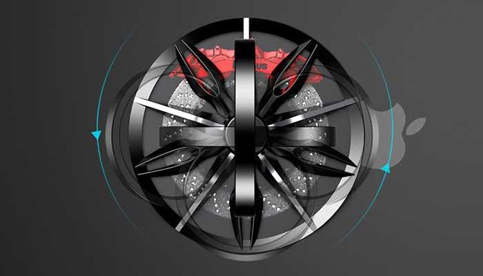 Практичный держатель и отличное развлечение Baseus Wheel Bracket