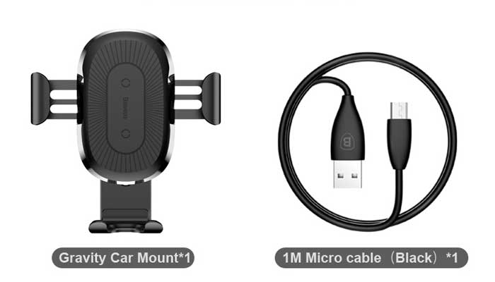 Комплектация Baseus Wireless Charger Gravity Car Mount