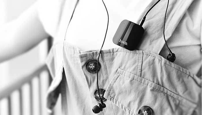 Hoco E16 - беспроводные наушники с ресивером-клипсой