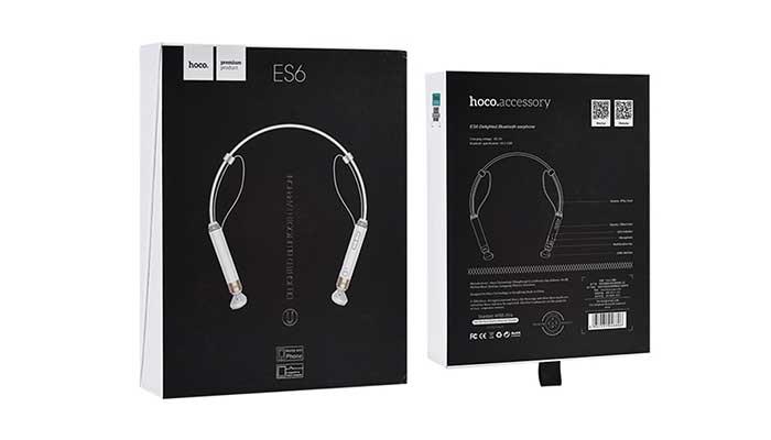 Упаковка беспроводной стерео гарнитуры Hoco ES6