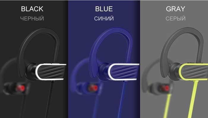 Hoco ES7 Sports Wireless в трех цветах - черный, синий и серый