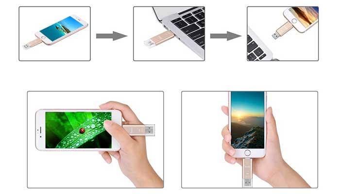 Нехватает места на iphone? купите Hoco UD2 Flash Drive