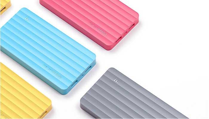 Легкий и мощный аккумулятор с 2 USB на 10000 mah Hoco UPB01