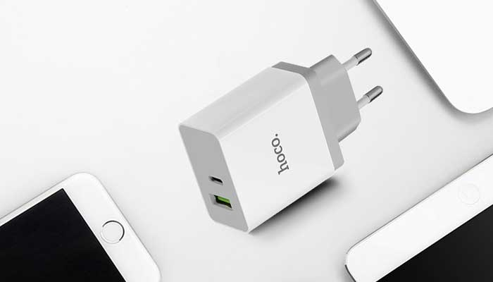 Hoco C24A QC3.0 BELE Two Ports Charger White
