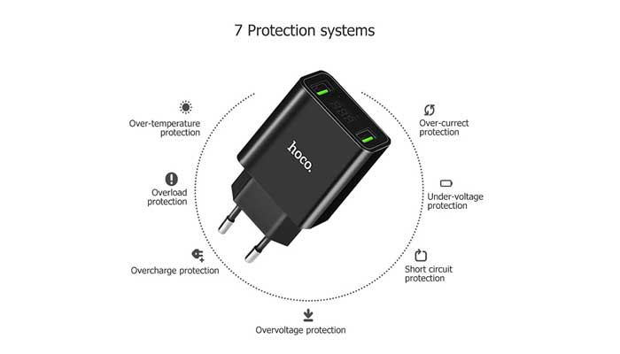 Сетевая зарядка Hoco C25A