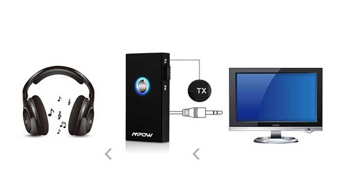 Универсальный Bluetooth адаптер для телевизора MPOW MBT3