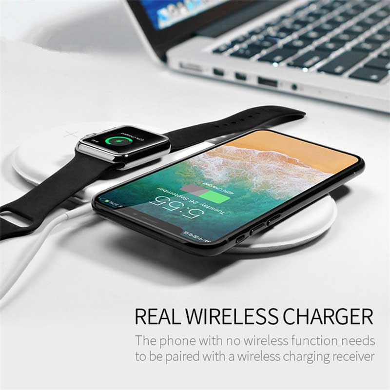 Беспроводное зарядное устройство AirPower Wireless Charger 3 in 1 for iphone, ipod и iwatch 1-5s
