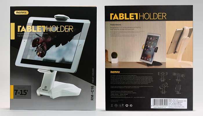 Стильный кронштейн-подставка для планшета на стол от Remax