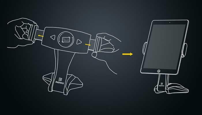 Нужен держатель на стол для планшета 7-15 дюймов? Купите на сайте автомобильных креплений DERJAK.RU