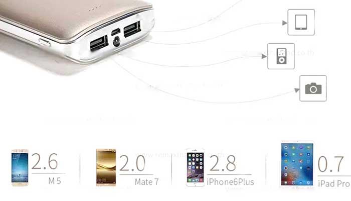 Универсальный внеший аккумулятор на 10000 mah с 2 USB Remax Proda Mink PPL-22