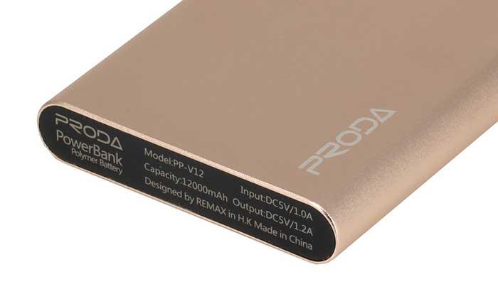 Карманный внешний аккумулятор Remax Proda Vanguard на 12000 mah