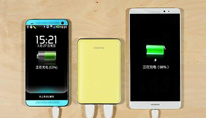 Емкость 5000 mah и 2 USB для одновременной зарядки двух смартфонов