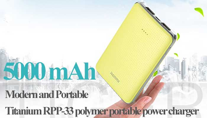 Аккумулятор на 5000 mah с 2 USB Remax Tiger RPP-33