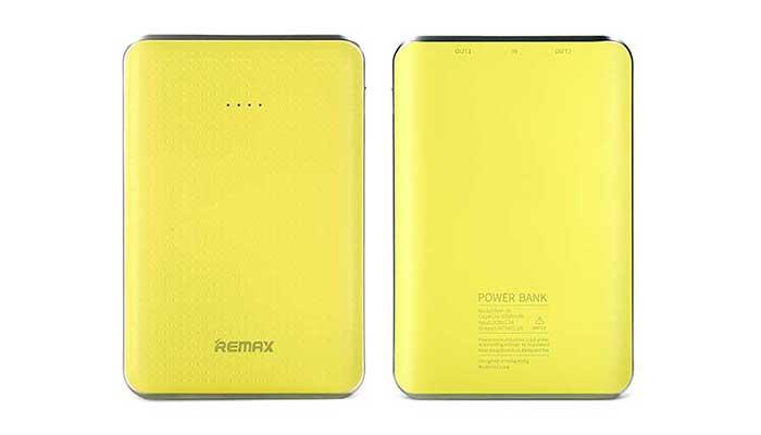 Яркие и стильные аккумуляторы Remax на 5000 mah с 2 USB