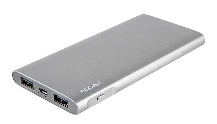 Тонкий портативный аккумулятор в алюминиевом корпусе Kinzy PPP-13 Powqer Bank на 10000 mah от компании Remax Proda