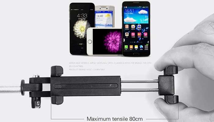 Палка для селфи Remax P4 с раздвижным держателем для телефонов до 6 дюймов