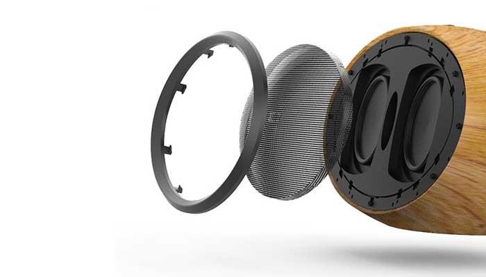 Мощная HiFI колонка Remax H7 Bluetooth Speaker с отделкой из дерева
