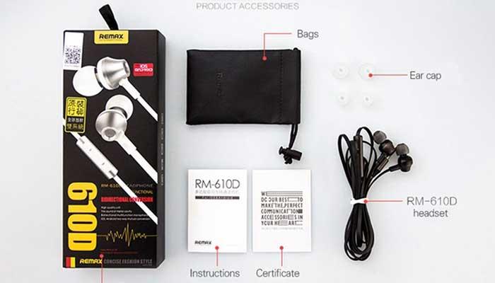 Комплектация наушников Remax RM-610D