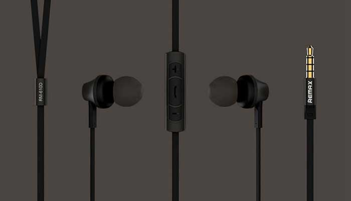 Remax RM-610D Intelligent Recognition Earphone black
