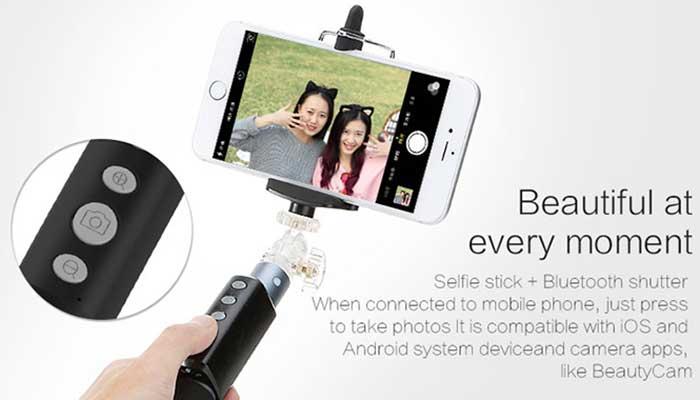 Монопод для Apple и Android! Rock Selfie Shutter Stick ROT0701 в магазине DERJAK.RU