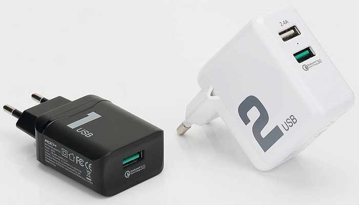 Rock T13 Dual Port Travel Charger