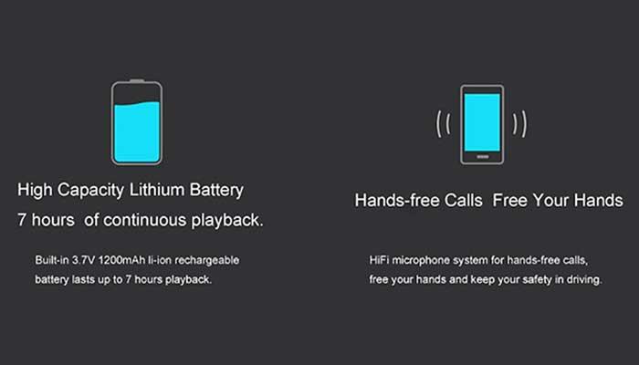Xiaomi Mi New Cannon 2 с аккумулятором 1200 mah для 7 часов проигрывания музыки